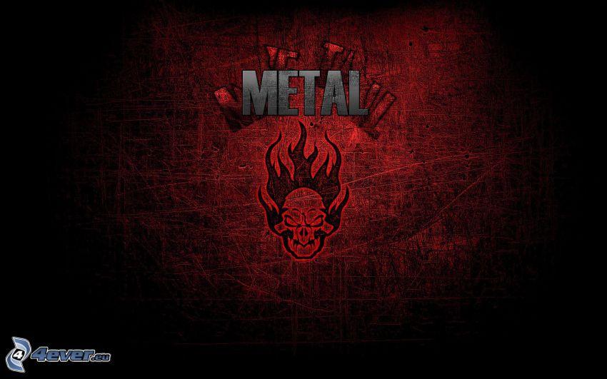 metal, skull