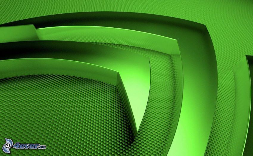 nVidia, green background