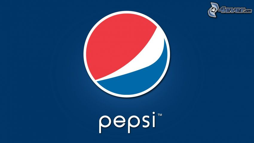 Pepsi, blue background