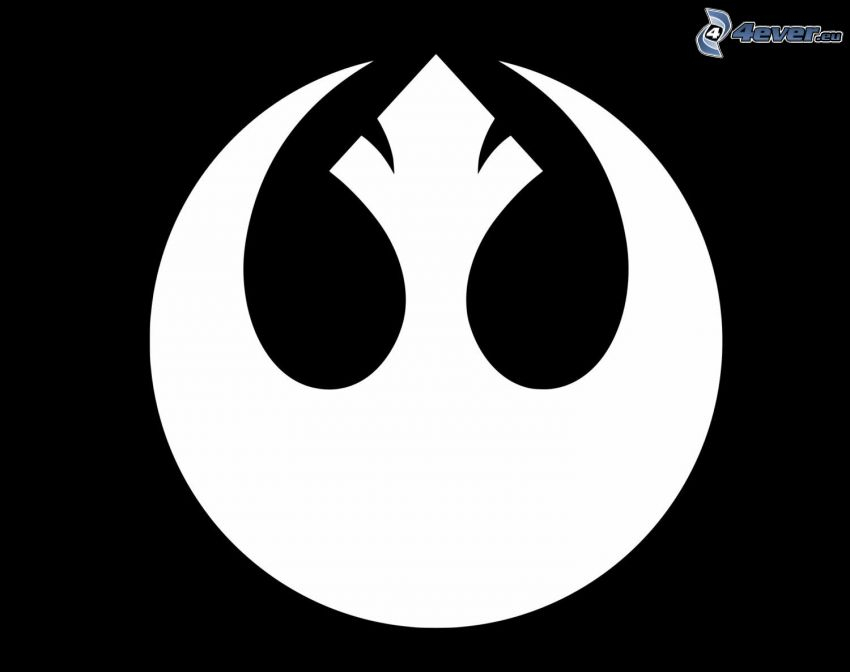 Rebel Alliance, black and white