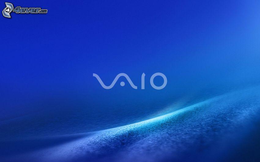 Sony Vaio, blue background