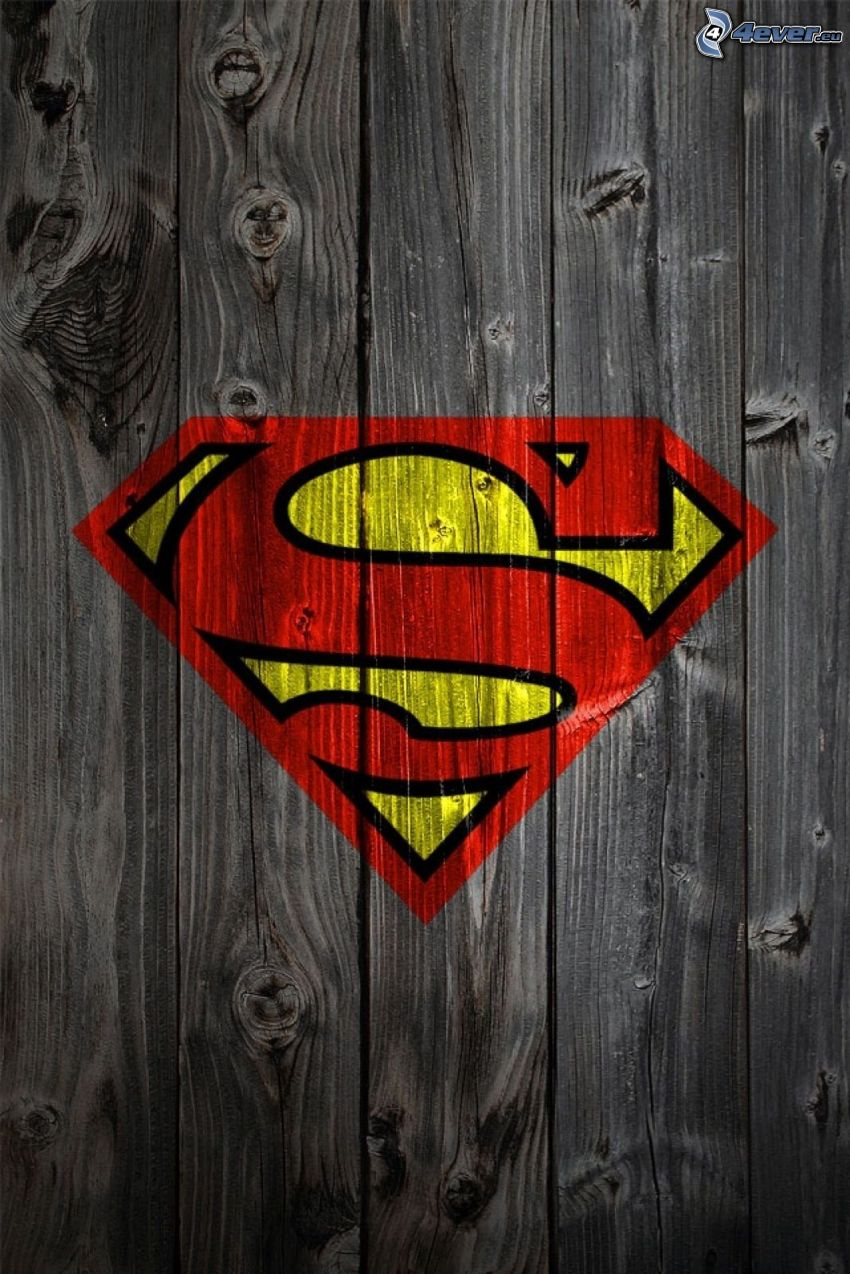 Superman, wood
