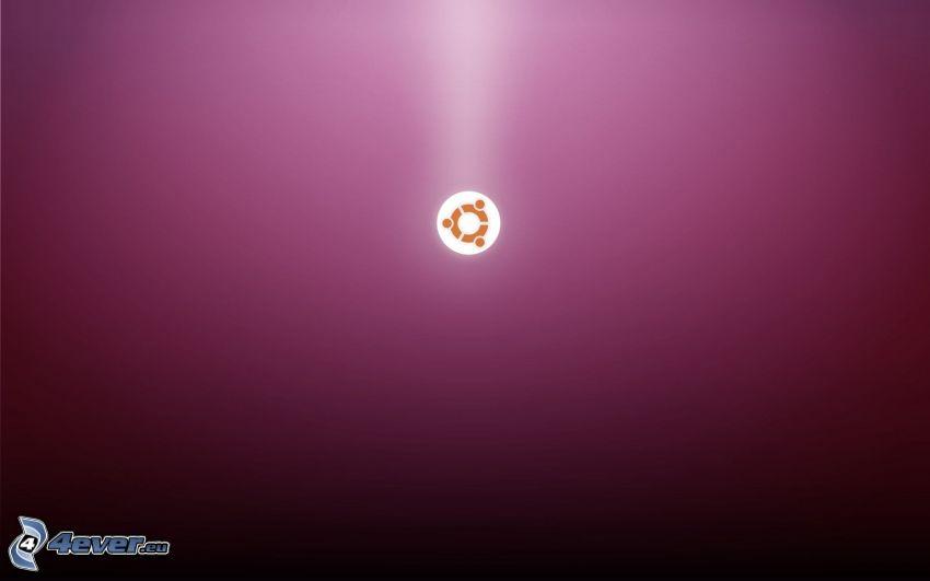 Ubuntu, purple background