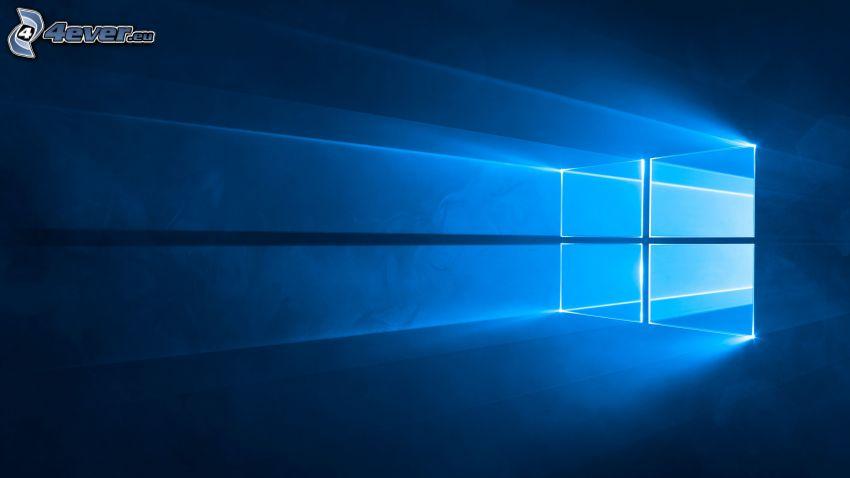 windows 10, blue background