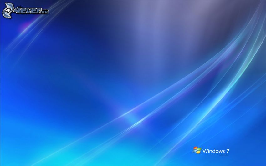 Windows 7, blue background, white lines