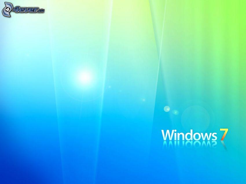 Windows 7, blue background