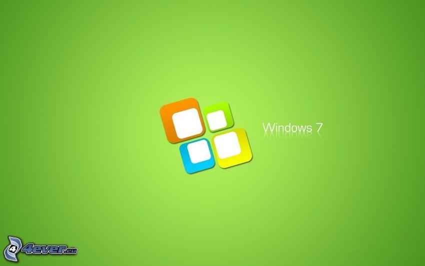 Windows 7, green background