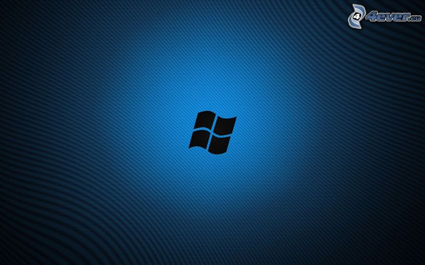 Windows 8, blue background