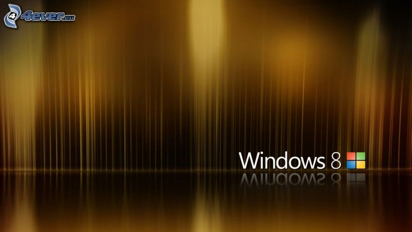 Windows 8, brown background