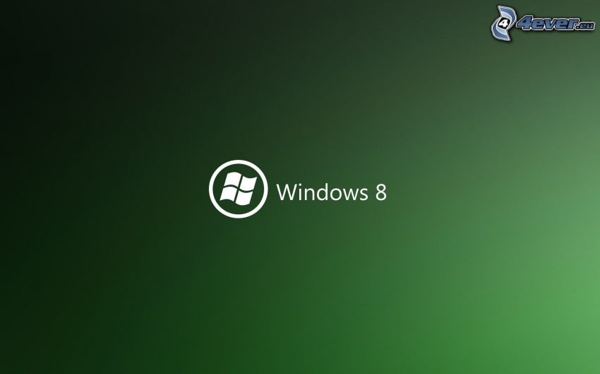 Windows 8, green background