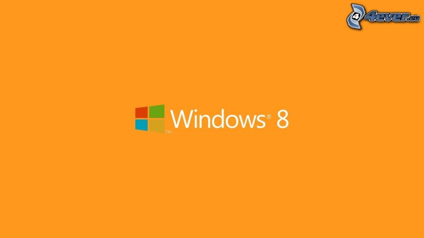Windows 8, orange background
