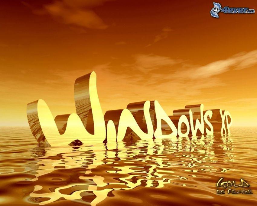 Windows XP, water surface, water