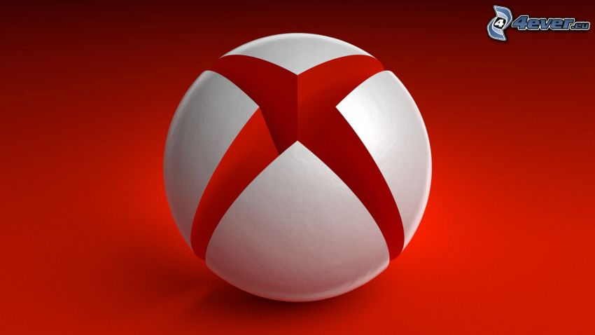 Xbox, red background