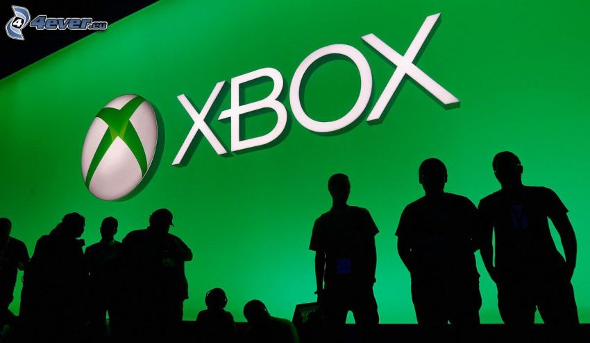 Xbox, silhouettes of people