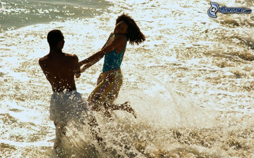 antics on the beach