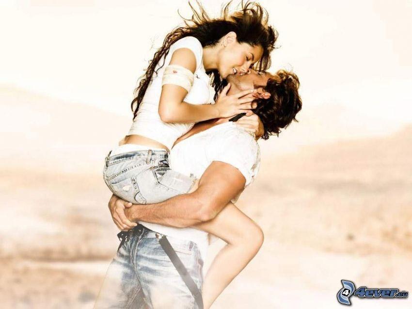 couple, kiss