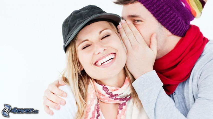 couple, laughter