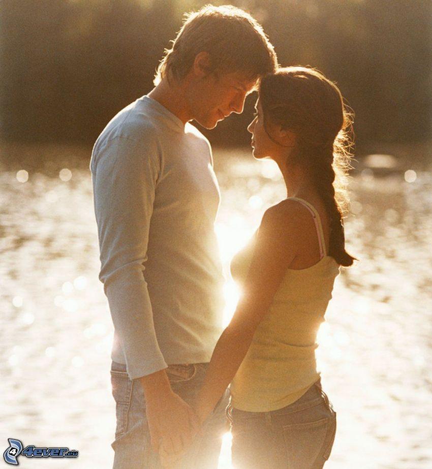 couple at the lake