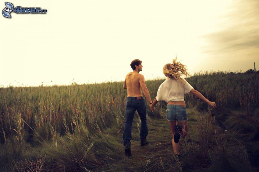 couple on field
