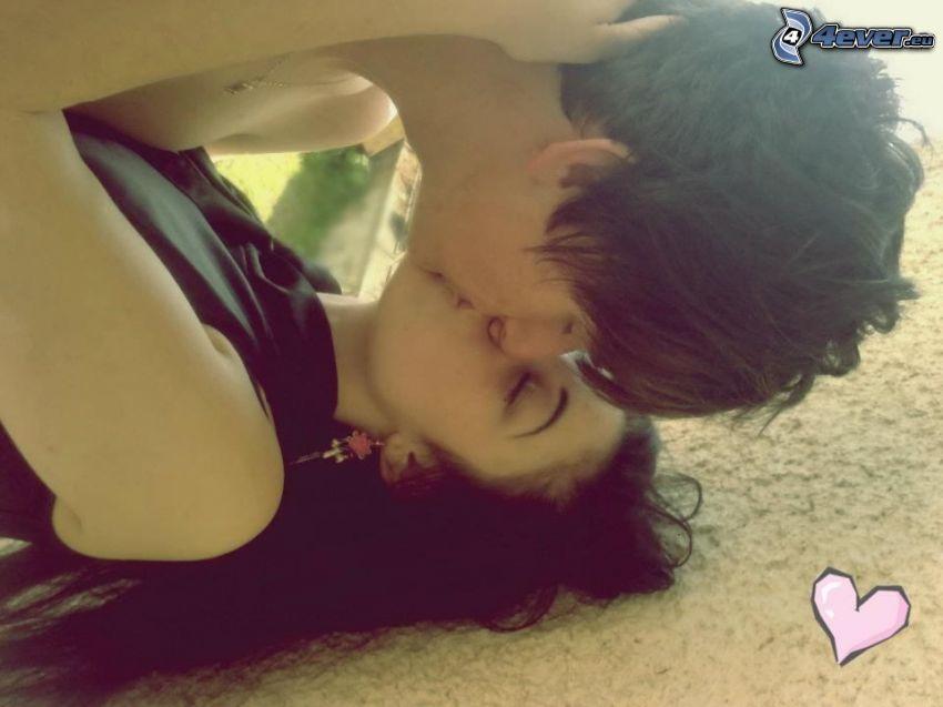 kiss, heart