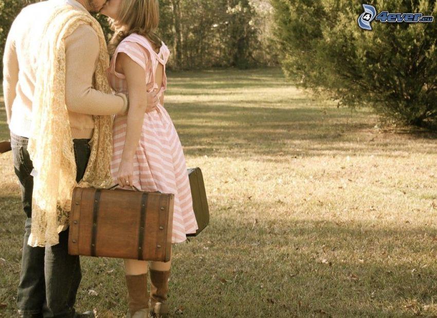 leave-taking, kiss