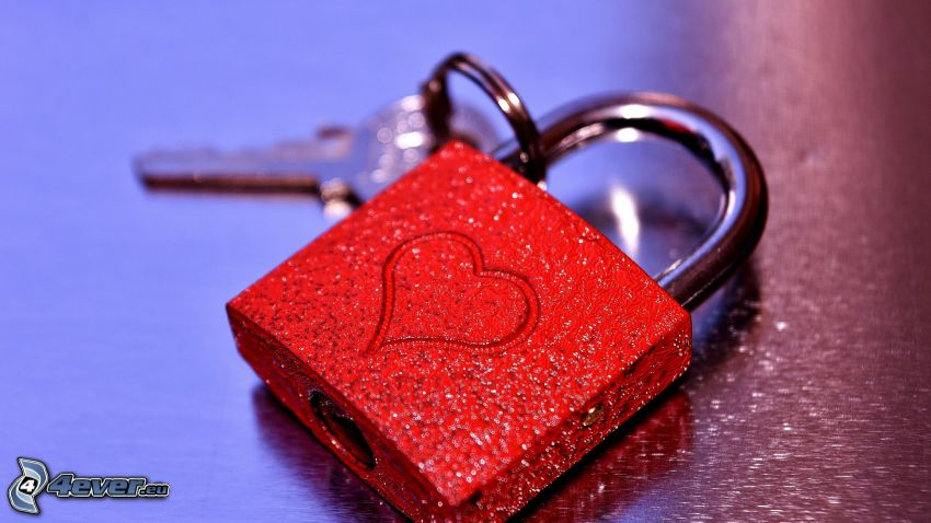 castle, heart, key