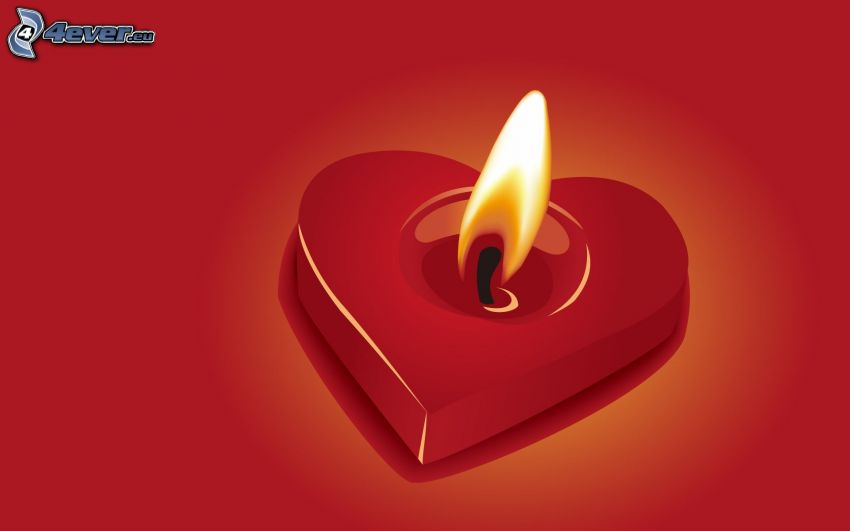 heart, candle