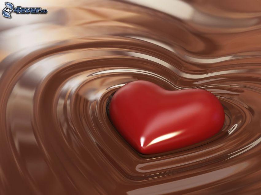 heart, chocolate