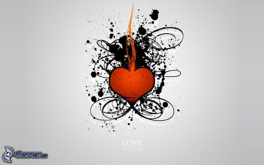 heart, lines