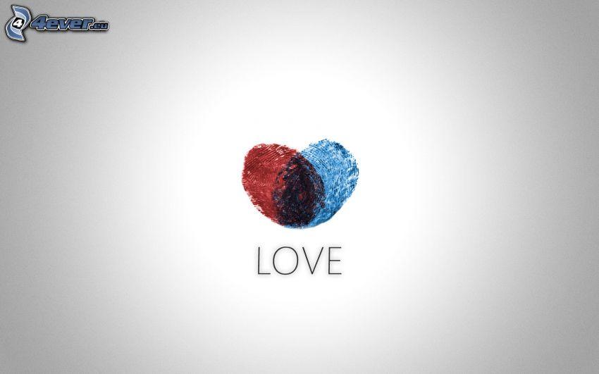 heart, love, fingerprint