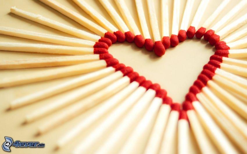 heart, matches