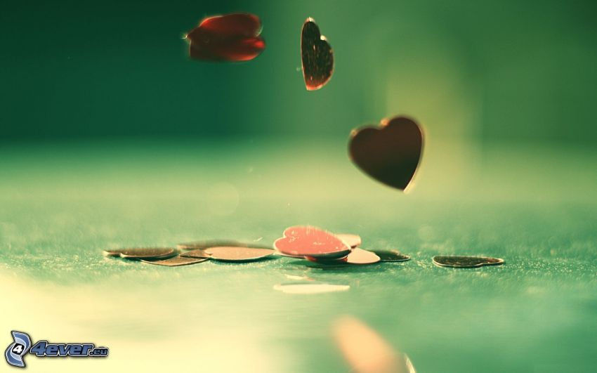 hearts, coins