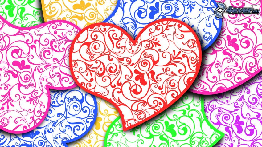 hearts, colors