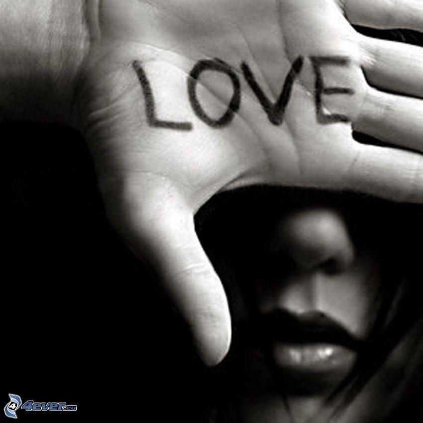 love, hand