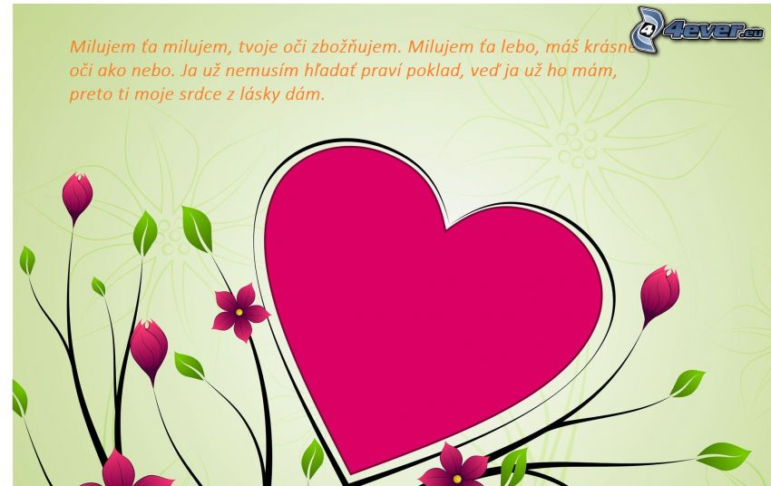 heart, text about love