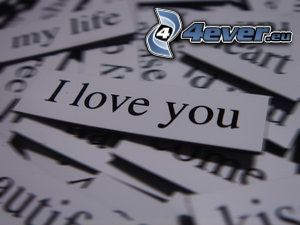I love you, text