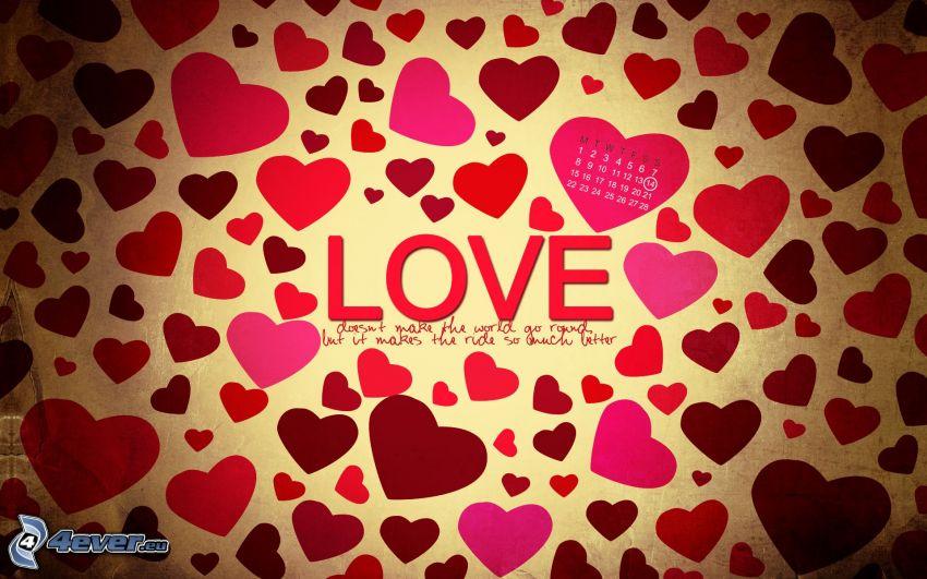love, hearts