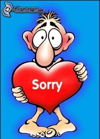 sorry, heart, cartoon
