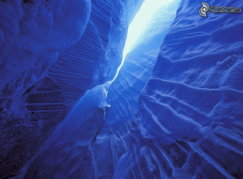 abyss, Glacier National Park, Canada, snow, ice