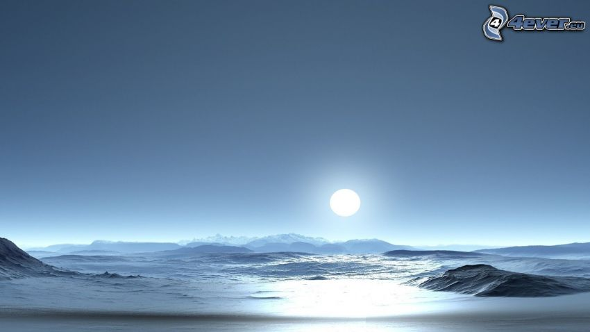 Antarctica, sun, sea