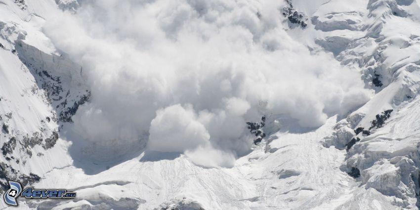 avalanche, snow