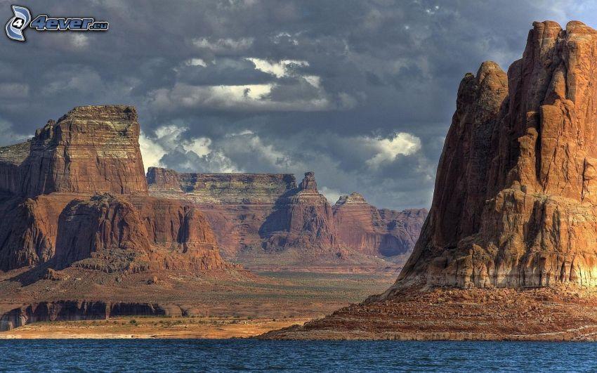 canyon, rocks