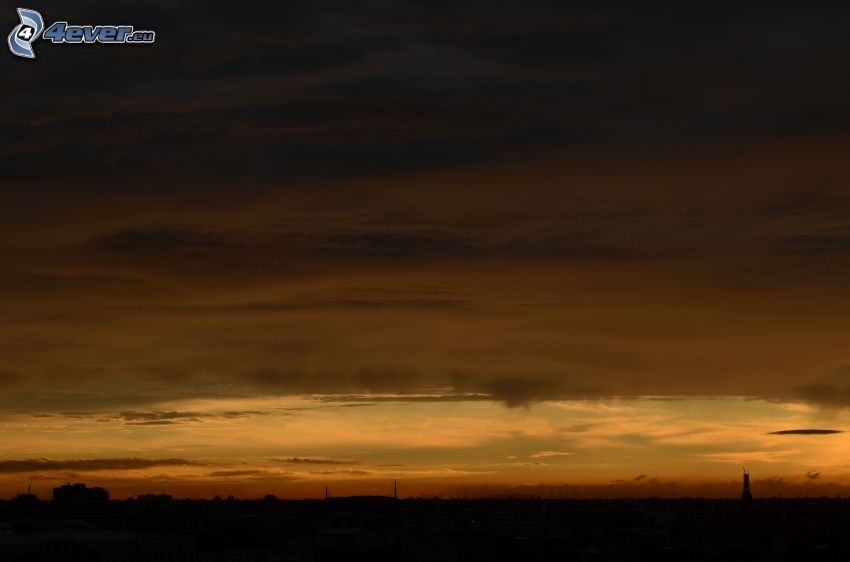 dark sky, evening