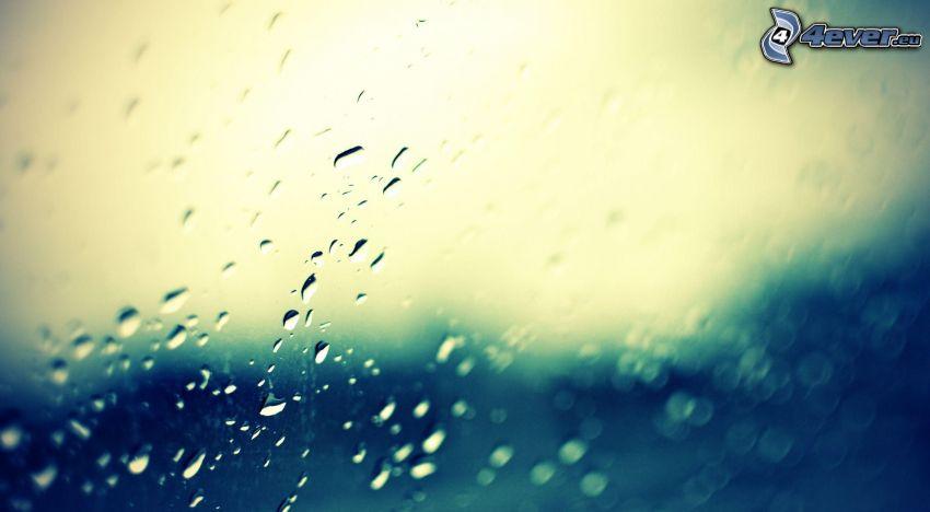 drops of rain, glass
