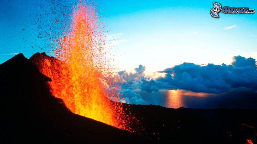 Etna, volcano, lava