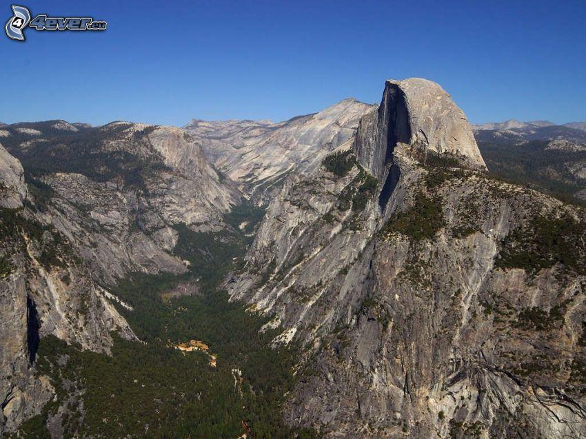Half Dome, valley, Yosemite National Park