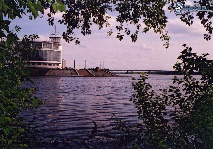 lake, factory