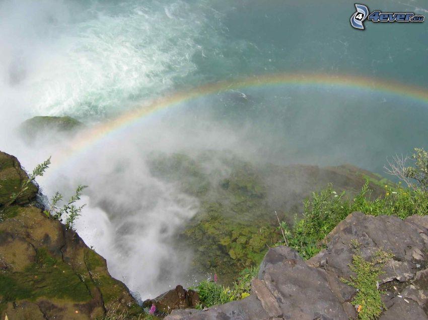 rainbow, lake