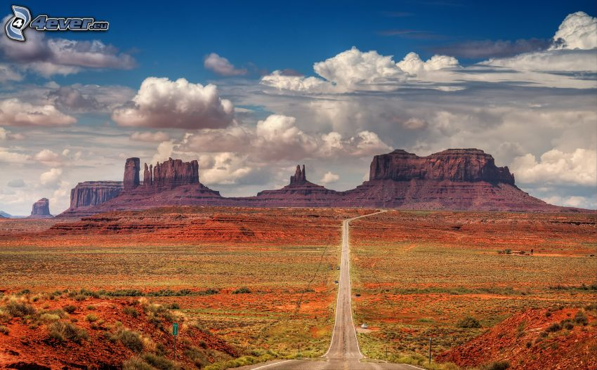 way through Monument Valley
