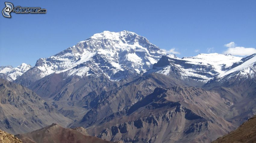 Aconcagua, rocky mountains
